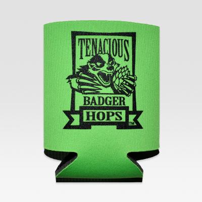 Tenacious Badger Can Koozie - Front