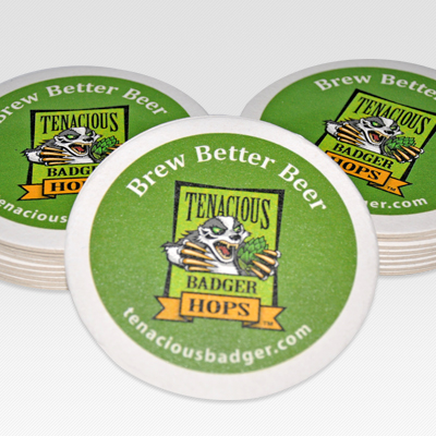 Tenacious Badger Coasters